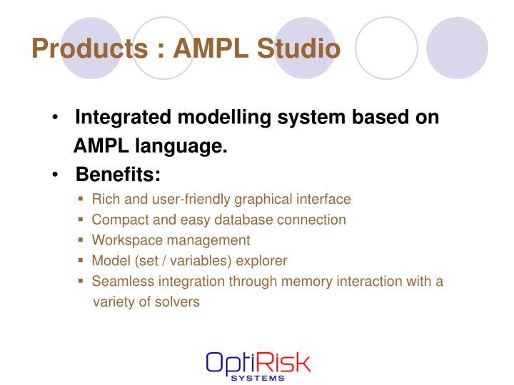 Products : AMPL Studio