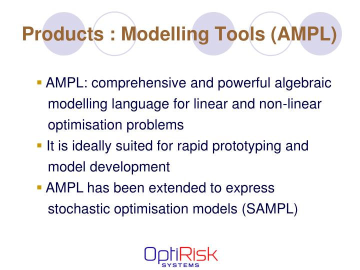 Products : Modelling Tools (AMPL)