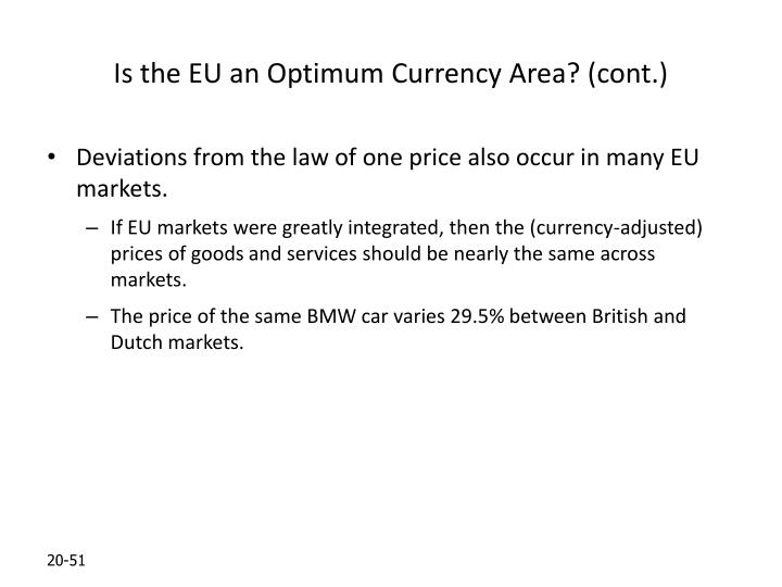 Is the EU an Optimum Currency Area? (cont.)