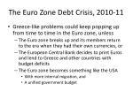 the euro zone debt crisis 2010 1113