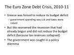 the euro zone debt crisis 2010 116