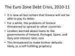 the euro zone debt crisis 2010 119