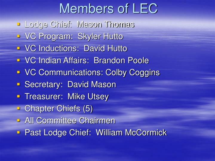 Members of LEC