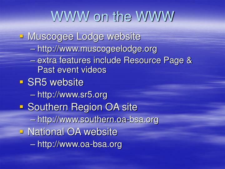 WWW on the WWW