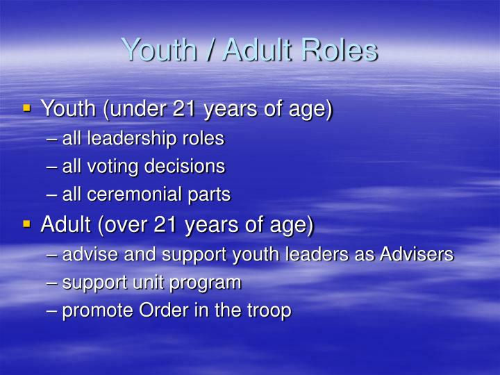 Youth / Adult Roles