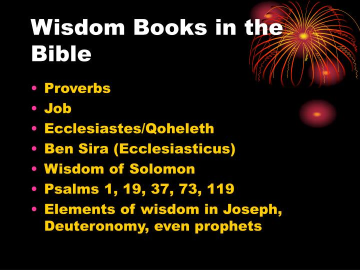 Wisdom Books in the Bible