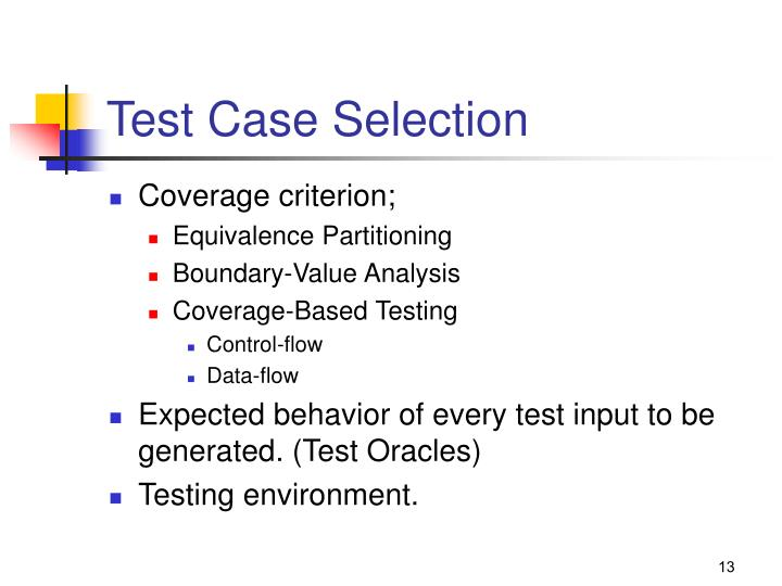Test Case Selection