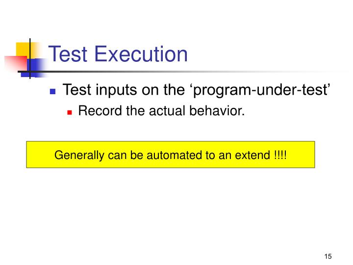 Test Execution