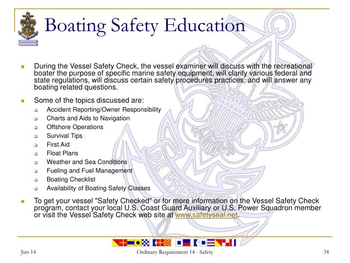 Boating Safety Education
