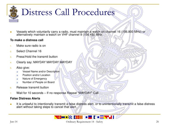 Distress Call Procedures