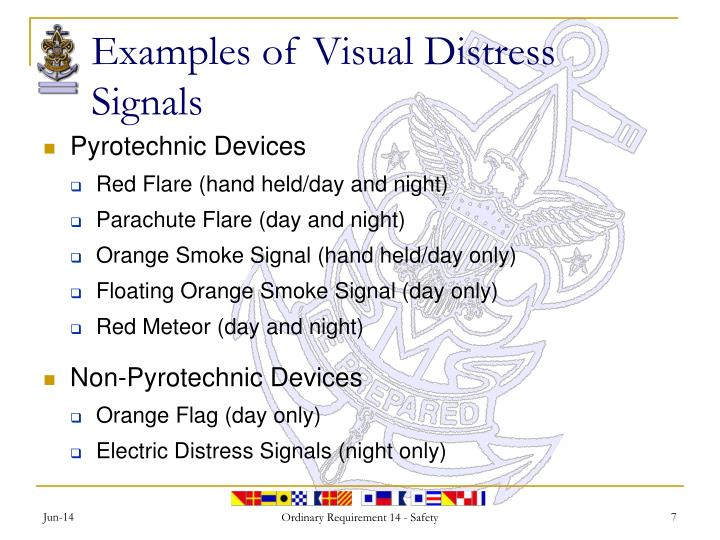 Examples of Visual Distress Signals