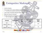 extinguisher markings