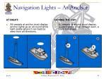 navigation lights at anchor