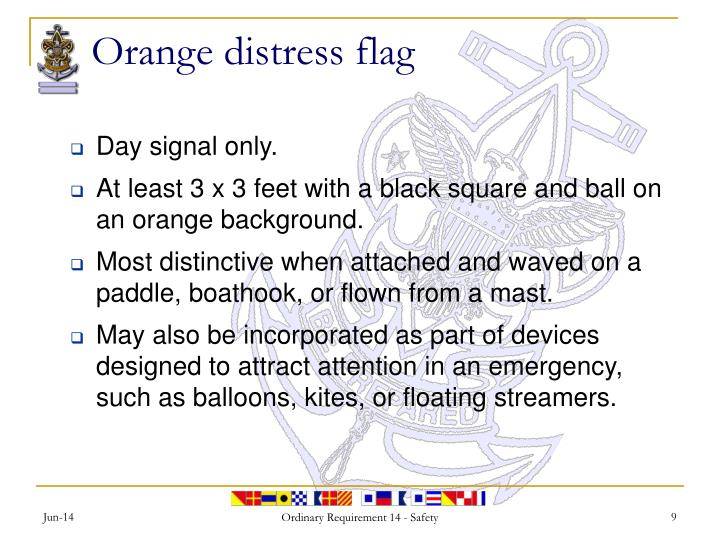 Orange distress flag