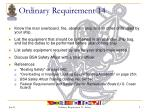 ordinary requirement 14