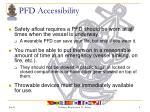 pfd accessibility