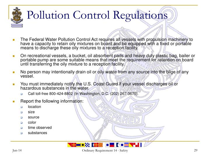Pollution Control Regulations