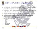 pollution control regulations