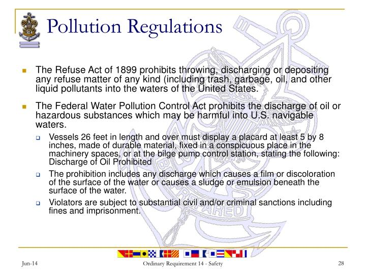 Pollution Regulations