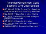 amended government code sections civil code section