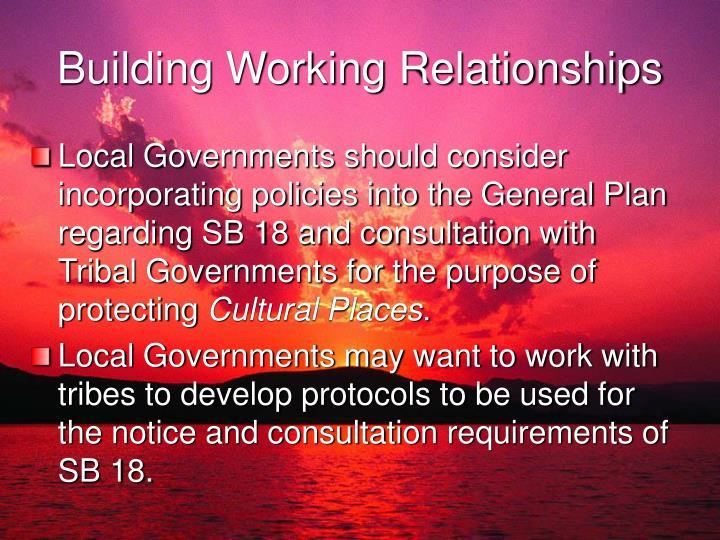 Building Working Relationships