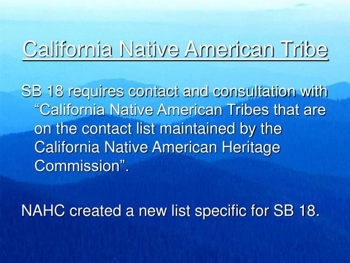 California Native American Tribe