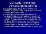 civil code amendment conservation easements