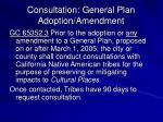 consultation general plan adoption amendment