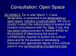 consultation open space