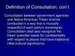 definition of consultation con t
