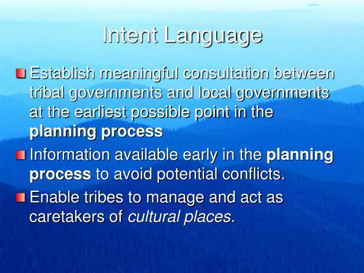 Intent Language