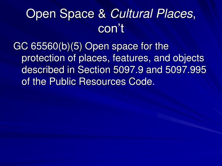 Open Space &