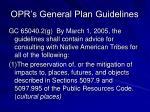 opr s general plan guidelines