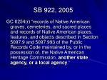 sb 922 2005