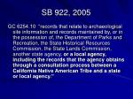 sb 922 20051