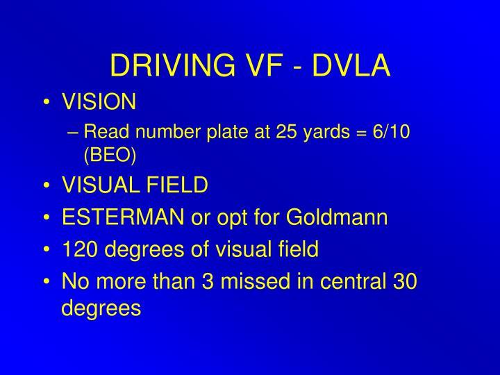 DRIVING VF - DVLA