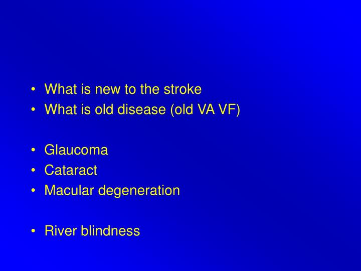 What is new to the stroke