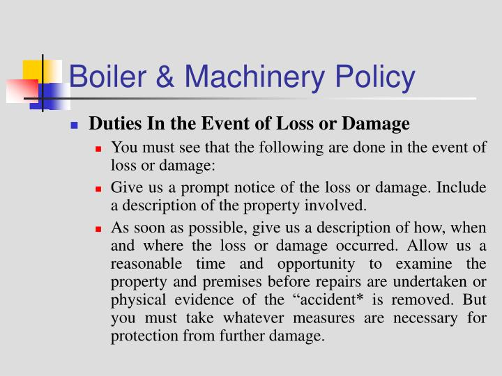 Boiler & Machinery Policy