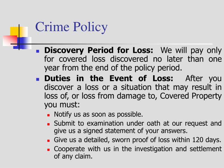 Crime Policy