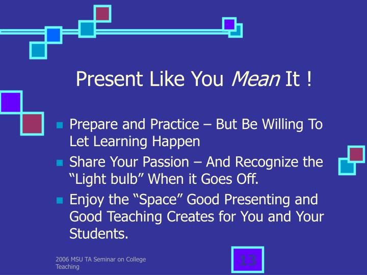 Present Like You