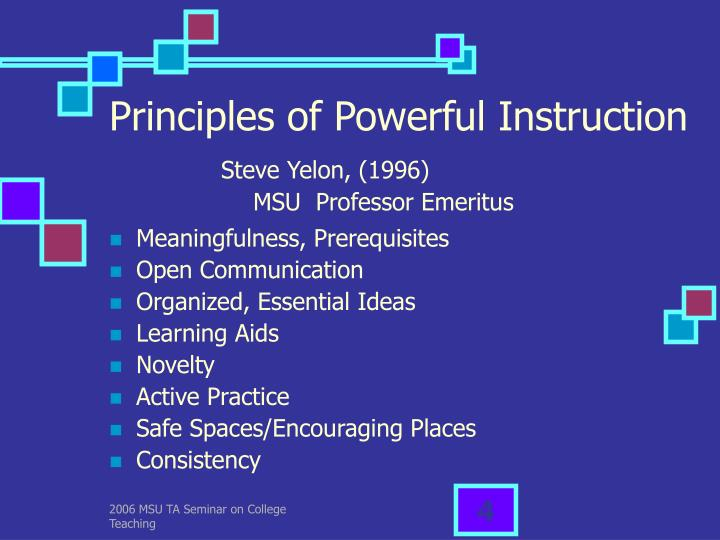 Principles of Powerful Instruction