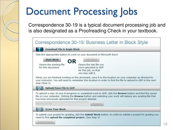 Document Processing Jobs