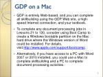gdp on a mac