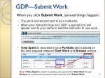 gdp submit work
