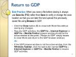 return to gdp