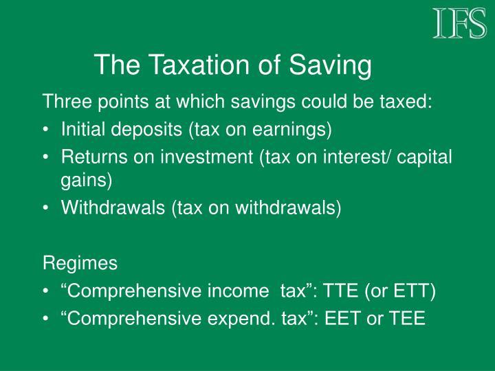 The Taxation of Saving