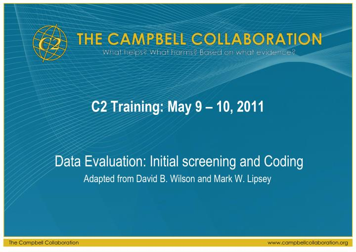 C2 training may 9 10 2011