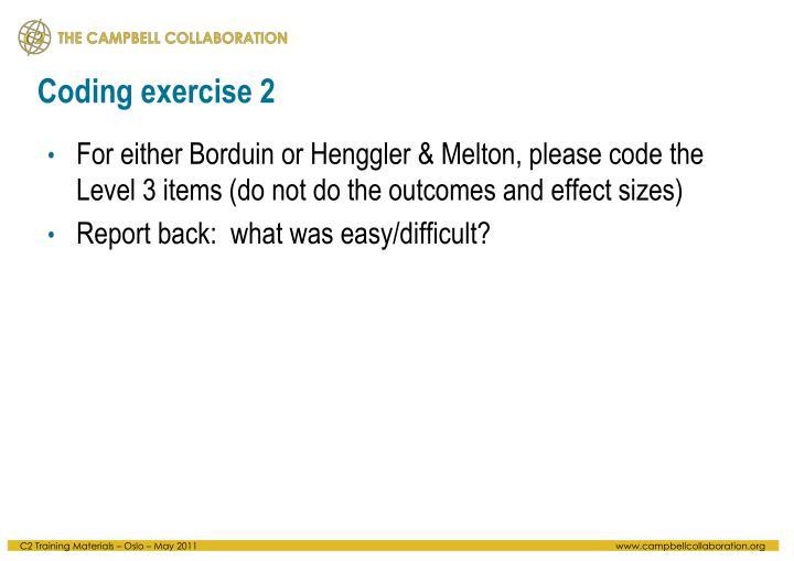 Coding exercise 2
