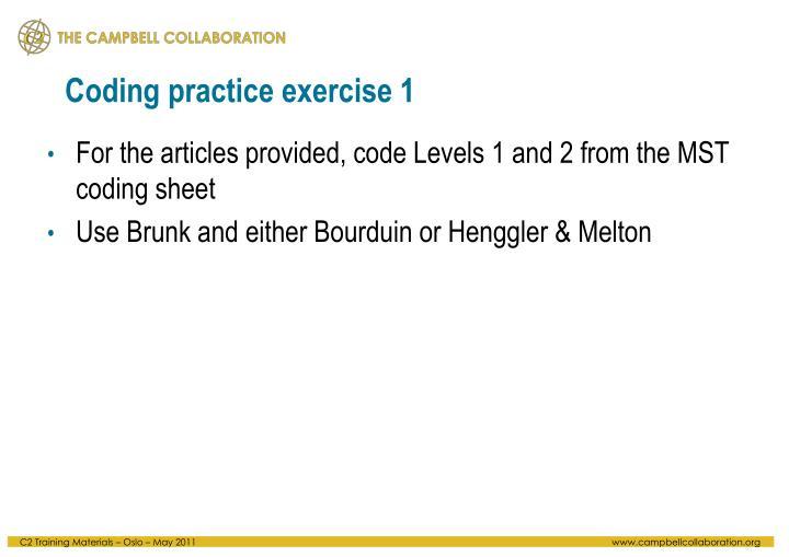 Coding practice exercise 1