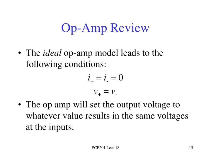 Op-Amp Review